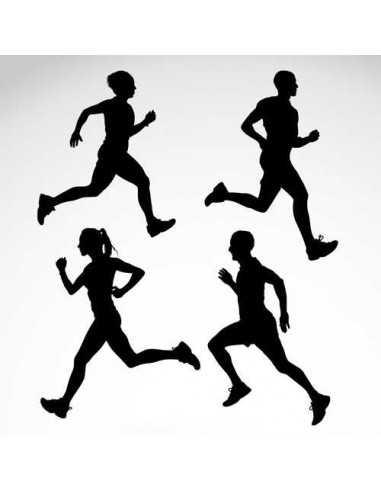 Running siluetas