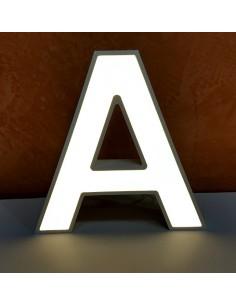 Letras corpóreas luminosas en PVC y metacrilato