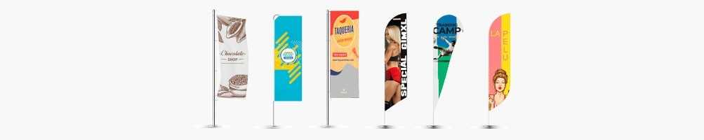 BANDEROLAS PUBLICITARIAS FLYBANNER SURF, GOTA Y RECTANGULAR